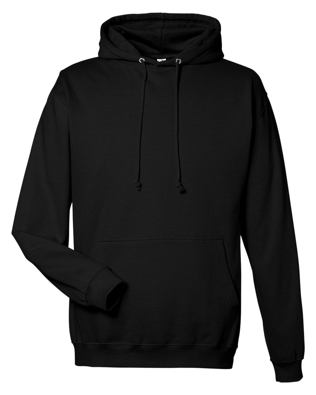 Just Hoods By AWDis Men's 80/20 Midweight College Hooded Sweatshirt JET BLACK