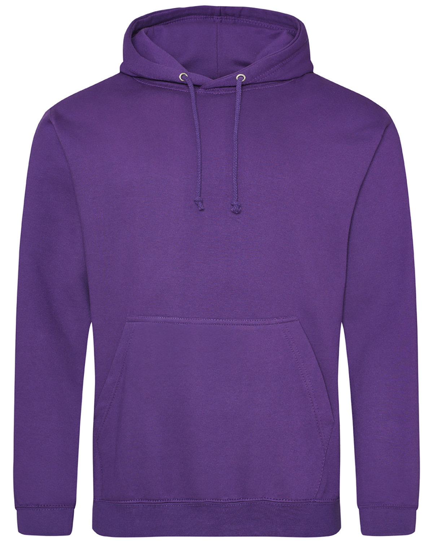 Just Hoods By AWDis Men's 80/20 Midweight College Hooded Sweatshirt PURPLE