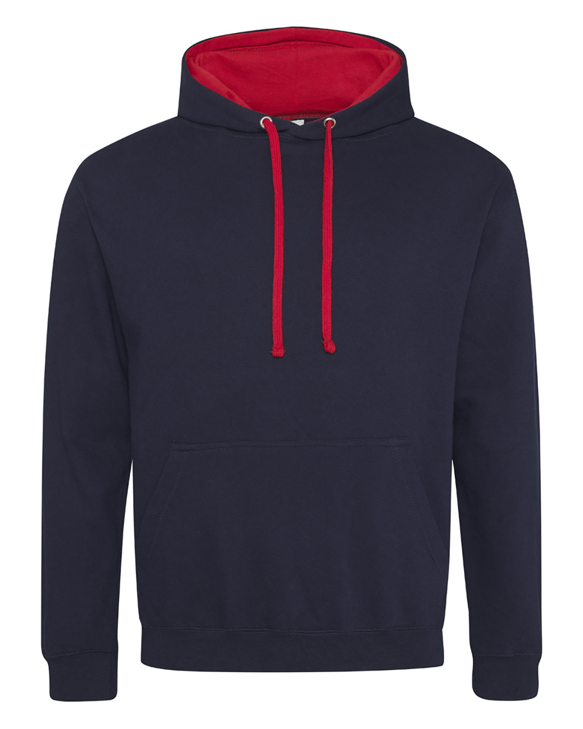 Just Hoods By AWDis Adult 80/20 Midweight Varsity Contrast Hooded Sweatshirt FRNCH NVY/ FR RD