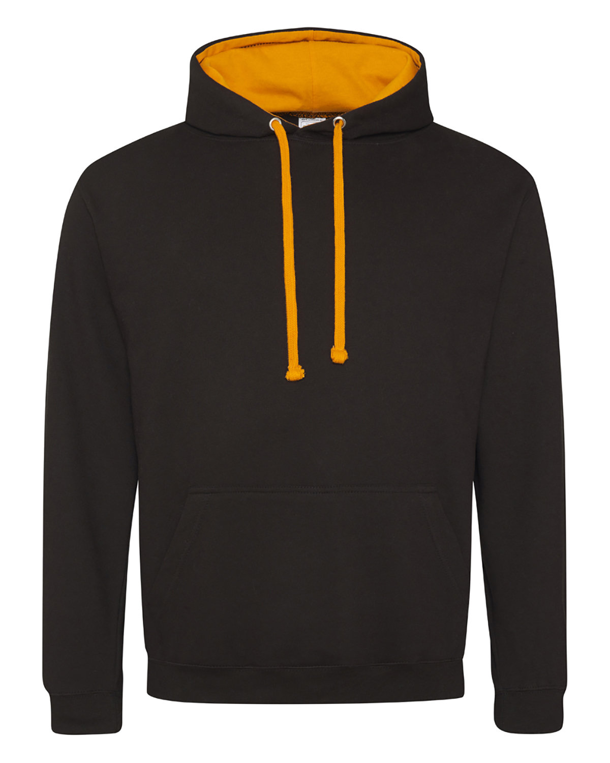 Just Hoods By AWDis Adult 80/20 Midweight Varsity Contrast Hooded Sweatshirt JT BLK/ ORN CRSH