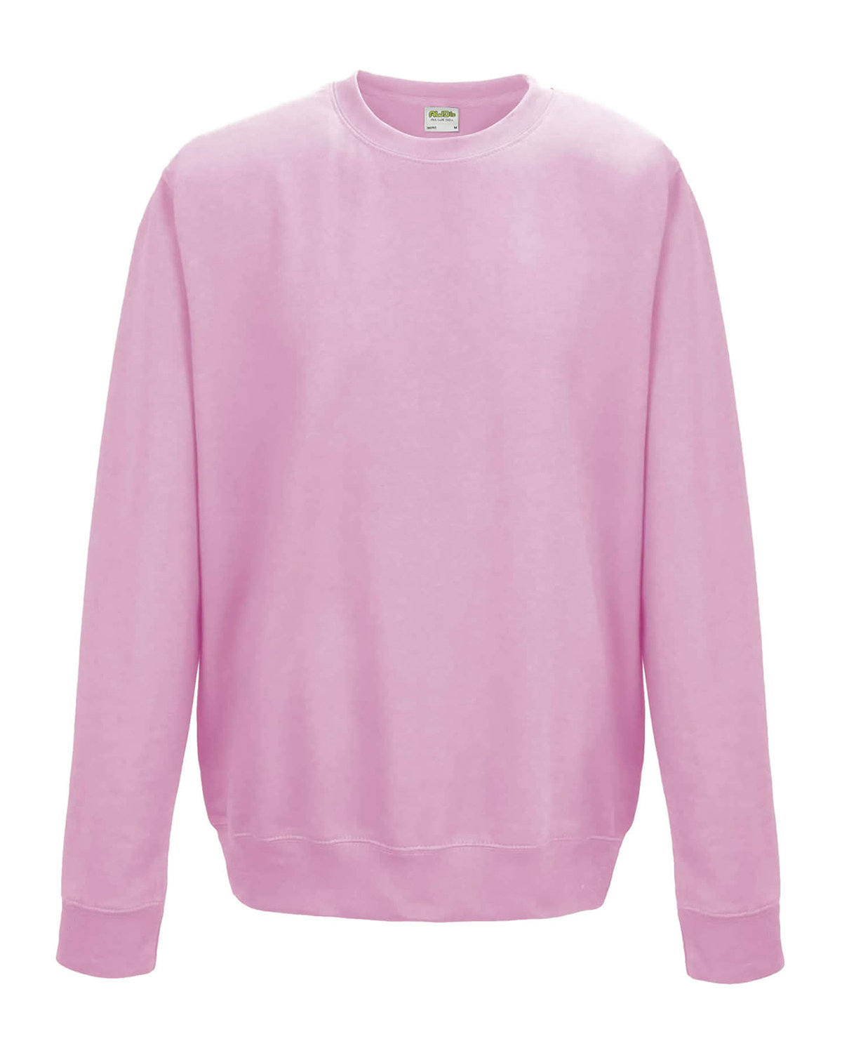 Just Hoods By AWDis Adult 80/20 Midweight College Crewneck Sweatshirt BABY PINK