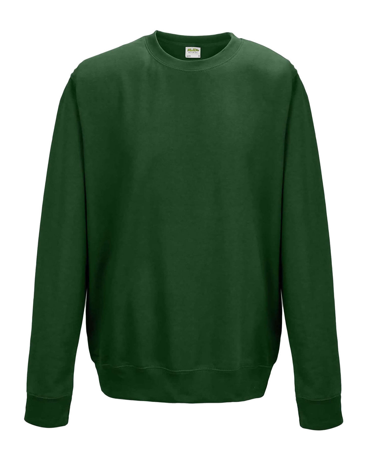 Just Hoods By AWDis Adult 80/20 Midweight College Crewneck Sweatshirt BOTTLE GREEN
