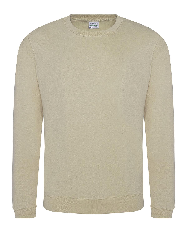 Just Hoods By AWDis Adult 80/20 Midweight College Crewneck Sweatshirt DESERT SAND
