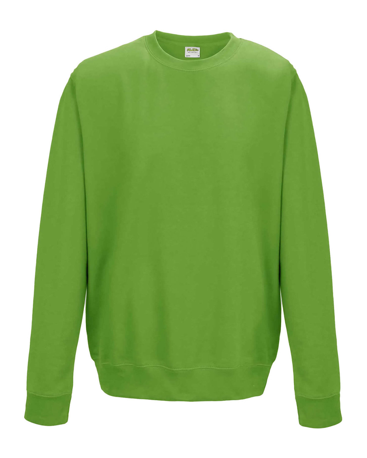 Just Hoods By AWDis Adult 80/20 Midweight College Crewneck Sweatshirt LIME GREEN