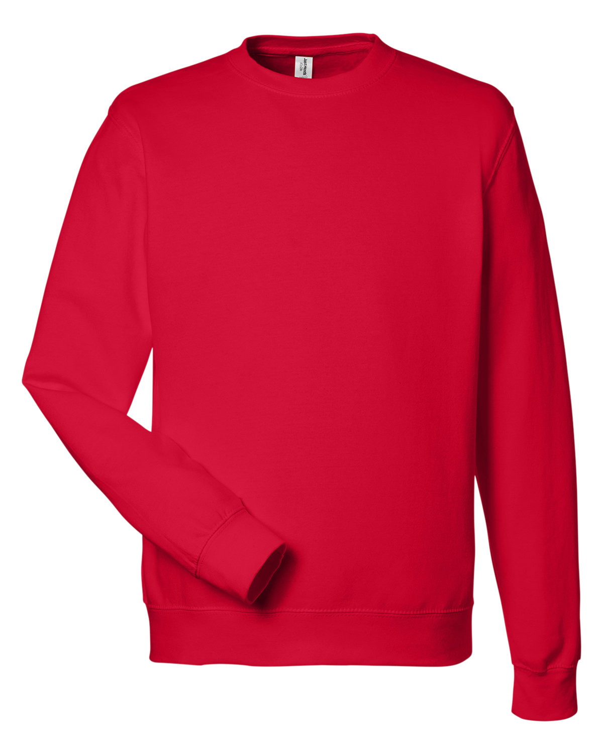 Just Hoods By AWDis Adult 80/20 Midweight College Crewneck Sweatshirt FIRE RED