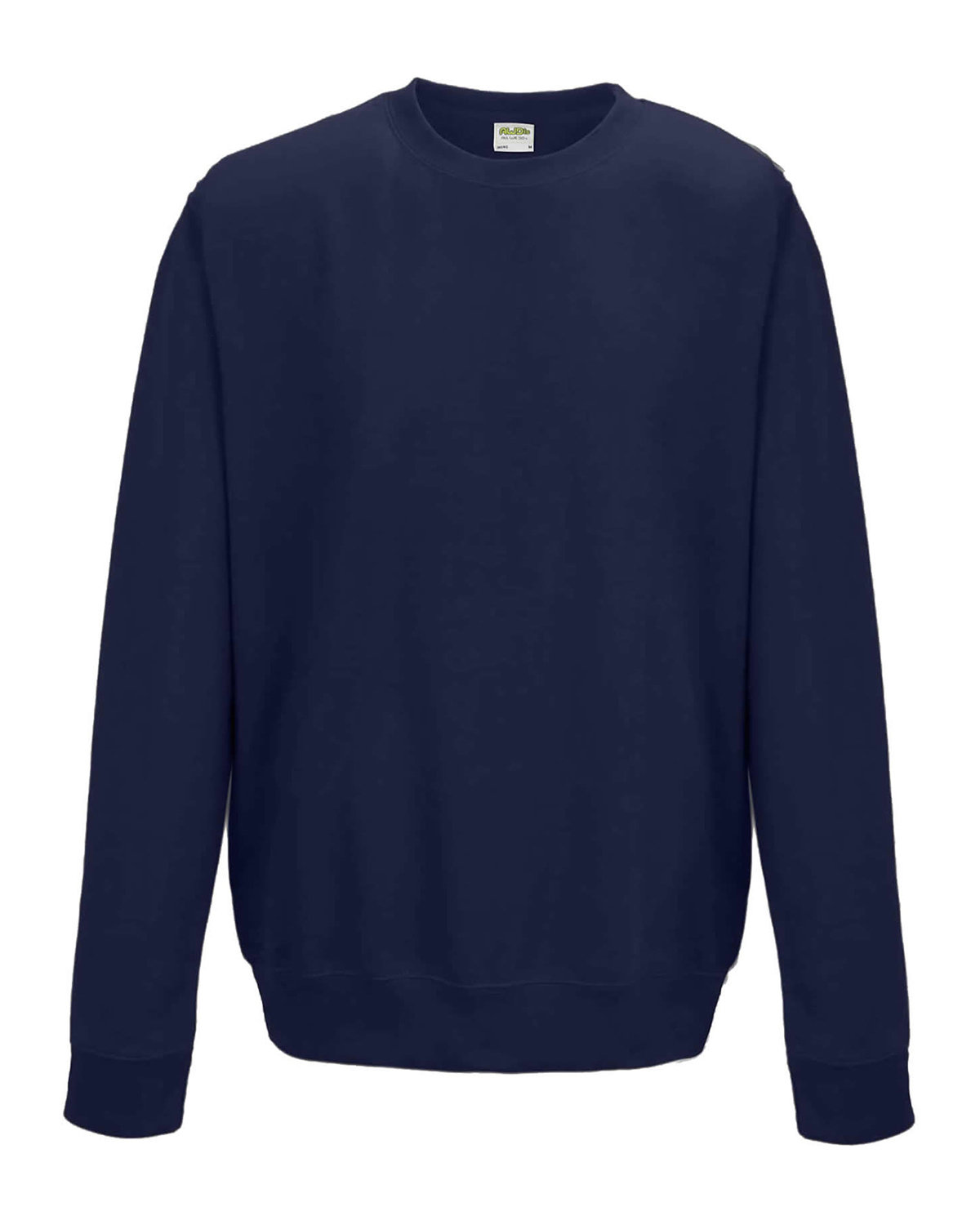 Just Hoods By AWDis Adult 80/20 Midweight College Crewneck Sweatshirt FRENCH NAVY
