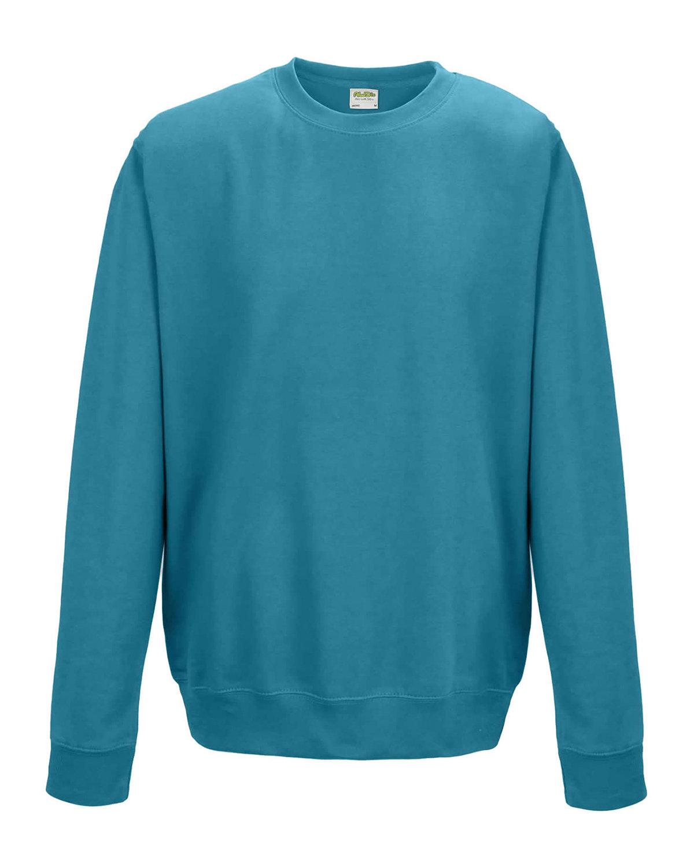 Just Hoods By AWDis Adult 80/20 Midweight College Crewneck Sweatshirt HAWAIIAN BLUE