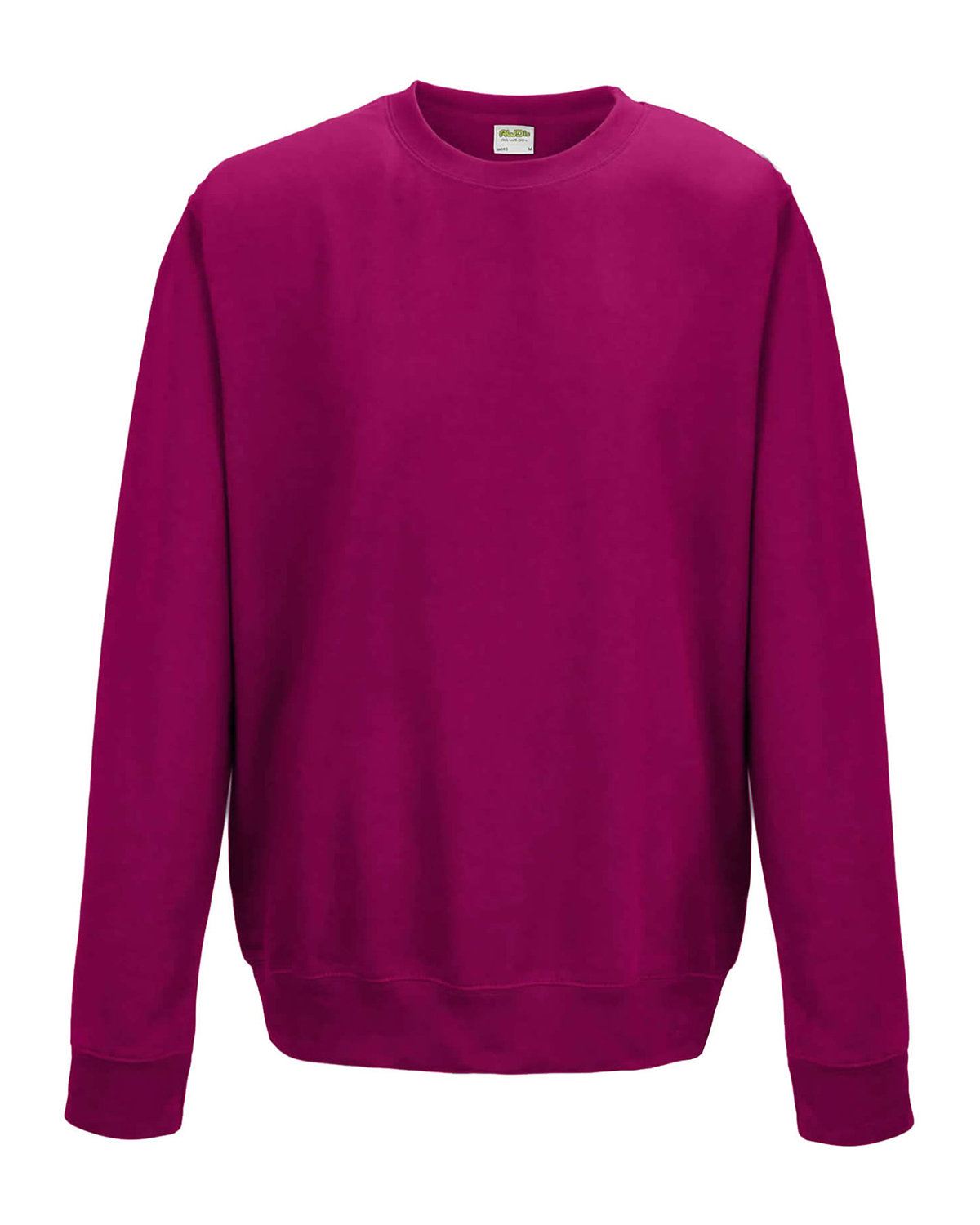 Just Hoods By AWDis Adult 80/20 Midweight College Crewneck Sweatshirt HOT PINK