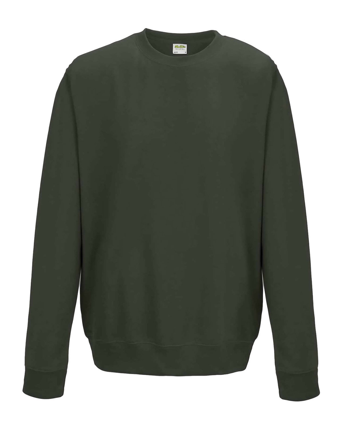 Just Hoods By AWDis Adult 80/20 Midweight College Crewneck Sweatshirt OLIVE GREEN