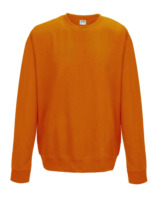 Just Hoods By AWDis Adult 80/20 Midweight College Crewneck Sweatshirt ORANGE CRUSH
