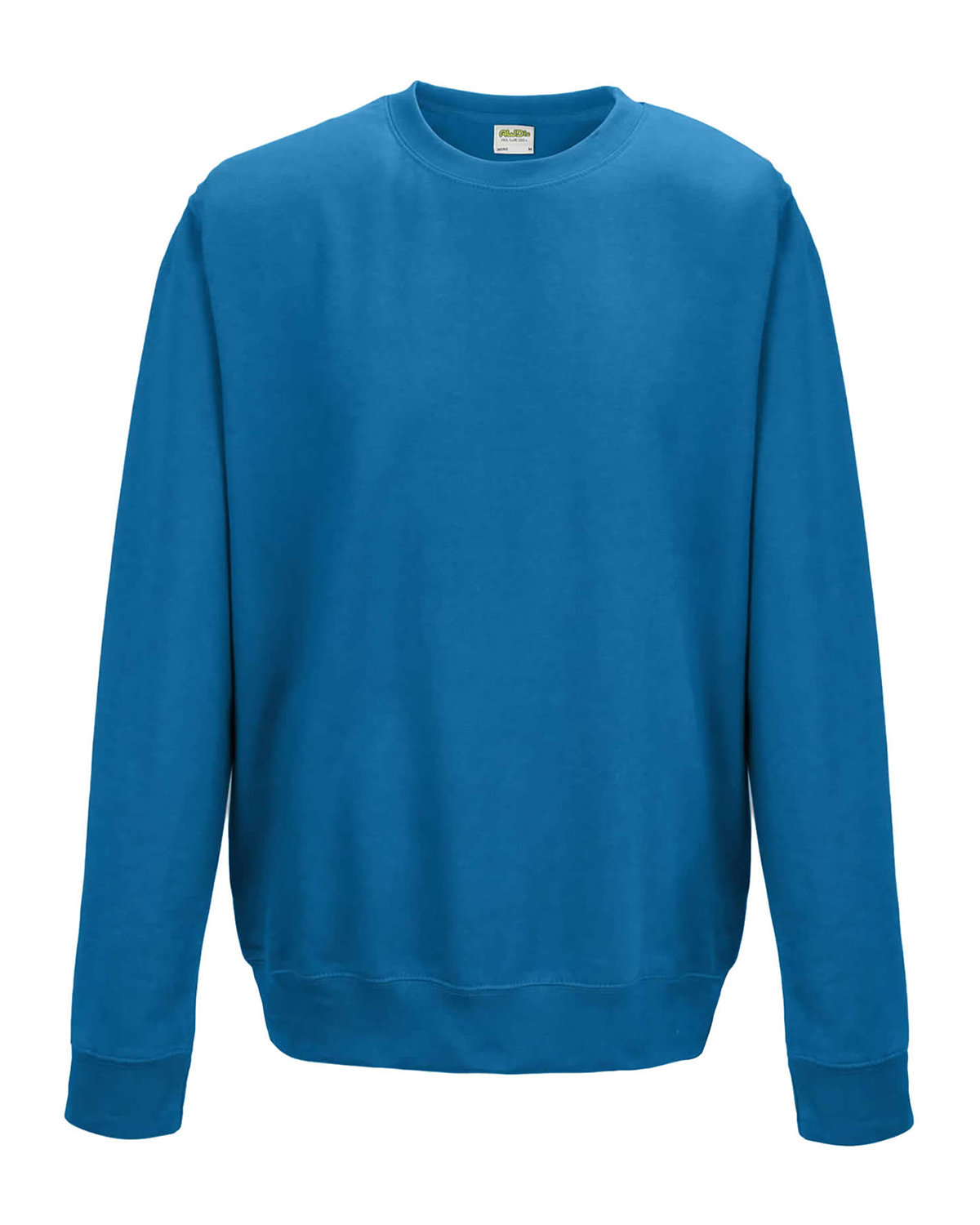 Just Hoods By AWDis Adult 80/20 Midweight College Crewneck Sweatshirt SAPPHIRE BLUE