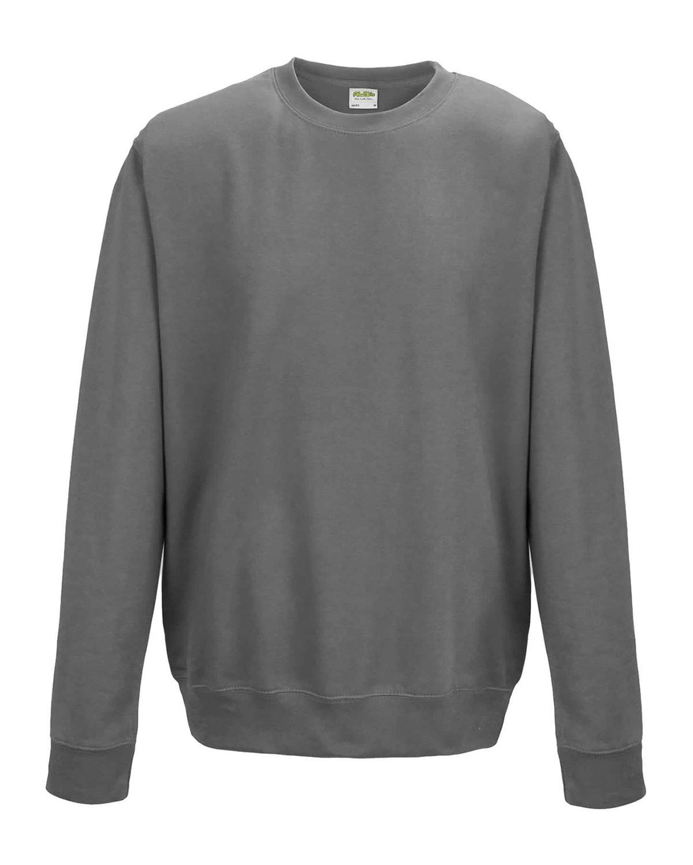 Just Hoods By AWDis Adult 80/20 Midweight College Crewneck Sweatshirt STEEL GREY