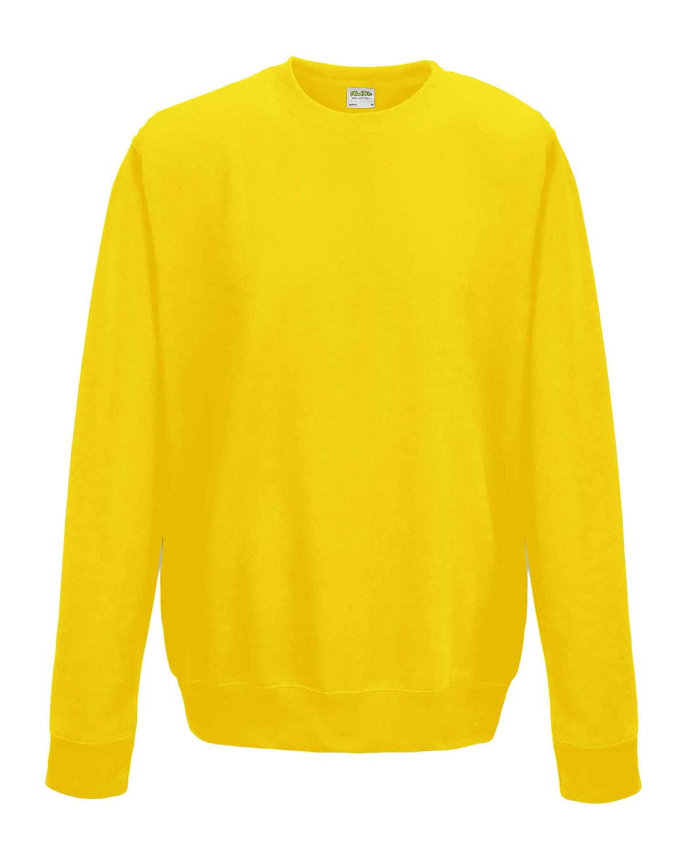 Just Hoods By AWDis Adult 80/20 Midweight College Crewneck Sweatshirt SUN YELLOW