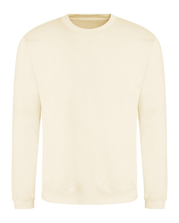 Just Hoods By AWDis Adult 80/20 Midweight College Crewneck Sweatshirt VANILLA MLKSHAKE