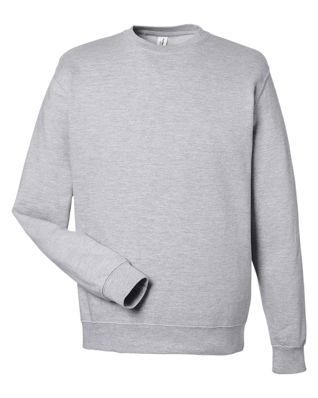 Just Hoods By AWDis Adult 80/20 Midweight College Crewneck Sweatshirt HEATHER GREY