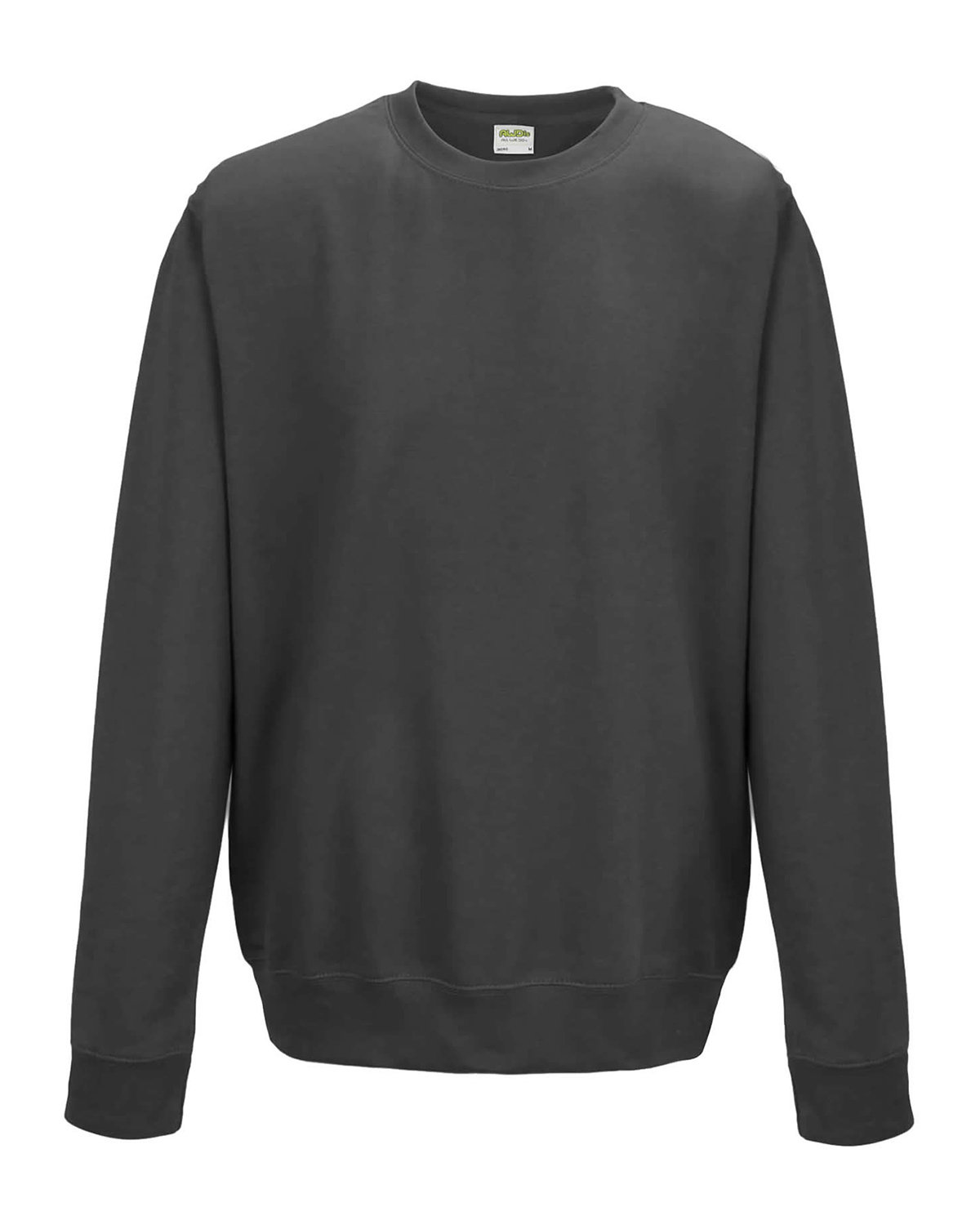 Just Hoods By AWDis Adult 80/20 Midweight College Crewneck Sweatshirt CHARCOAL