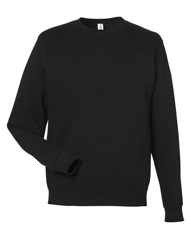 Just Hoods By AWDis Adult 80/20 Midweight College Crewneck Sweatshirt JET BLACK