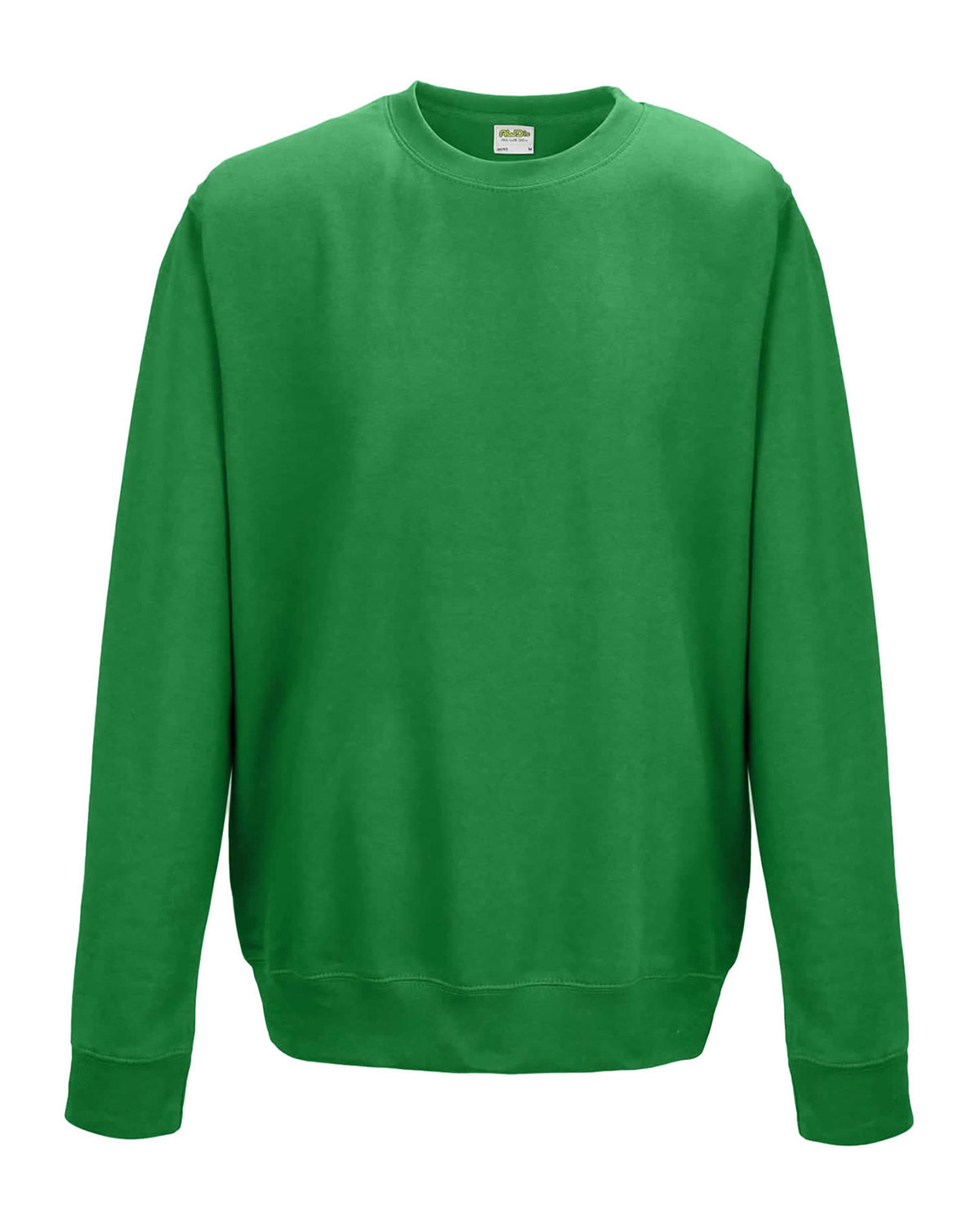 Just Hoods By AWDis Adult 80/20 Midweight College Crewneck Sweatshirt KELLY GREEN
