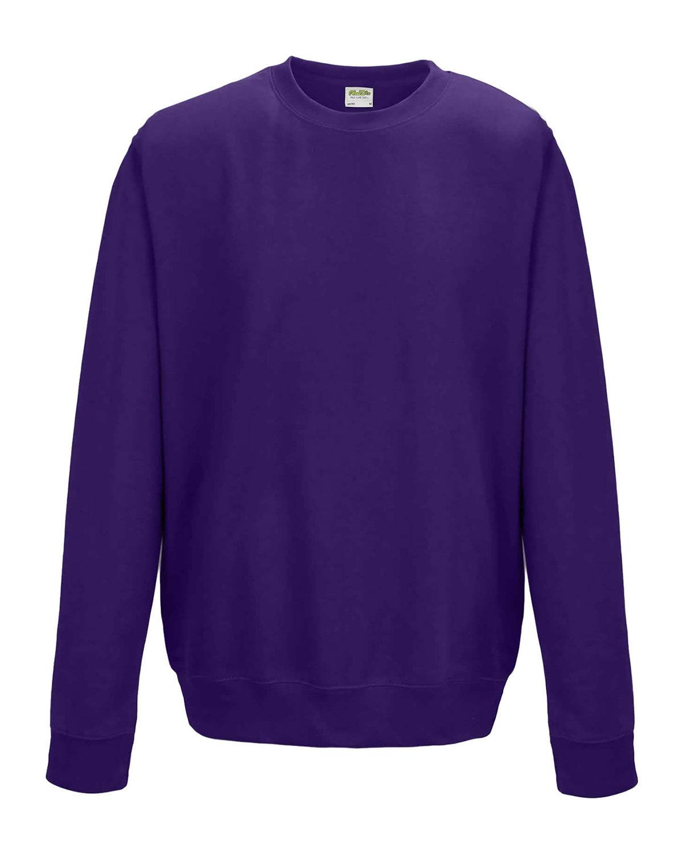 Just Hoods By AWDis Adult 80/20 Midweight College Crewneck Sweatshirt PURPLE