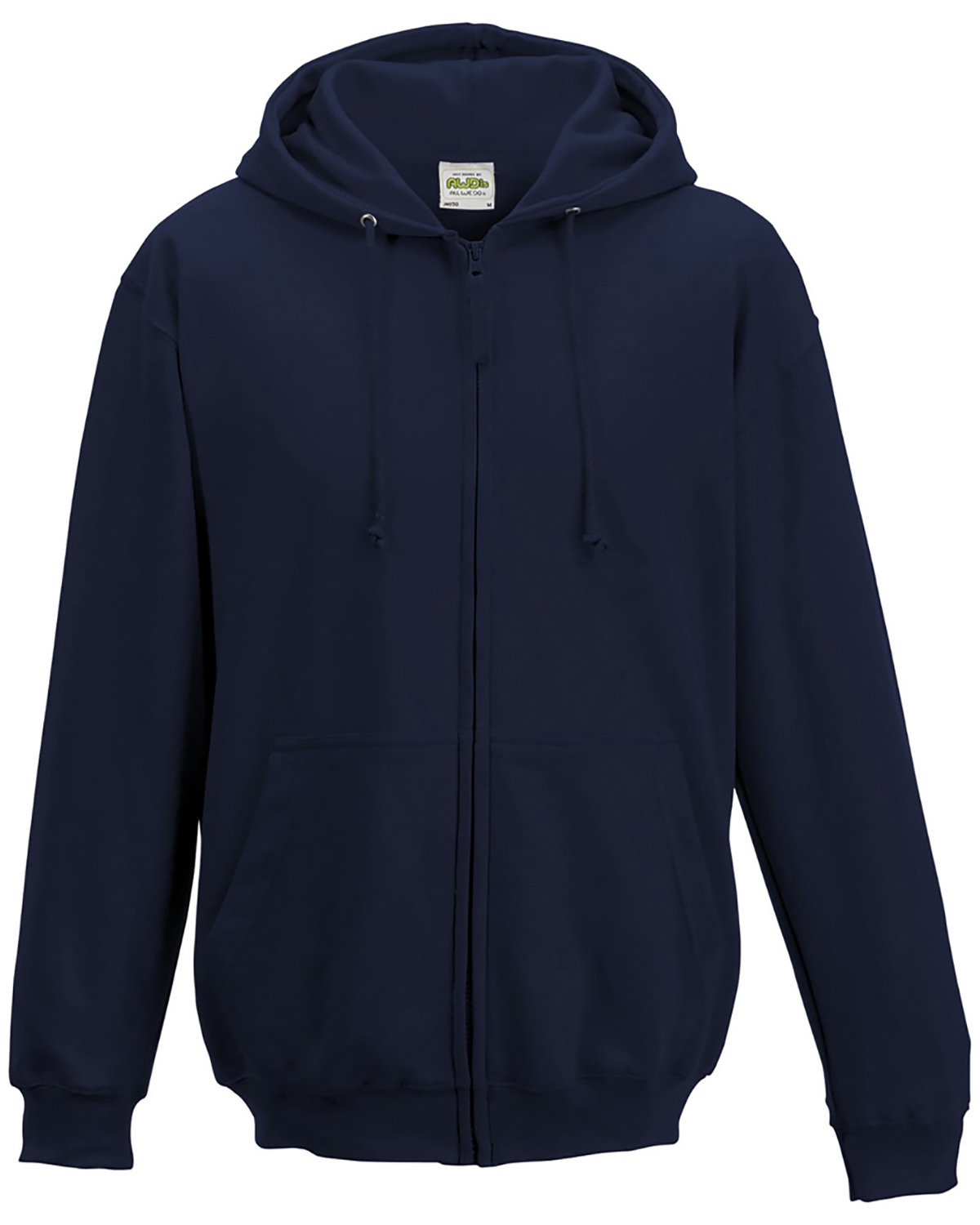 Just Hoods By AWDis Men's 80/20 Midweight College Full-Zip Hooded Sweatshirt FRENCH NAVY