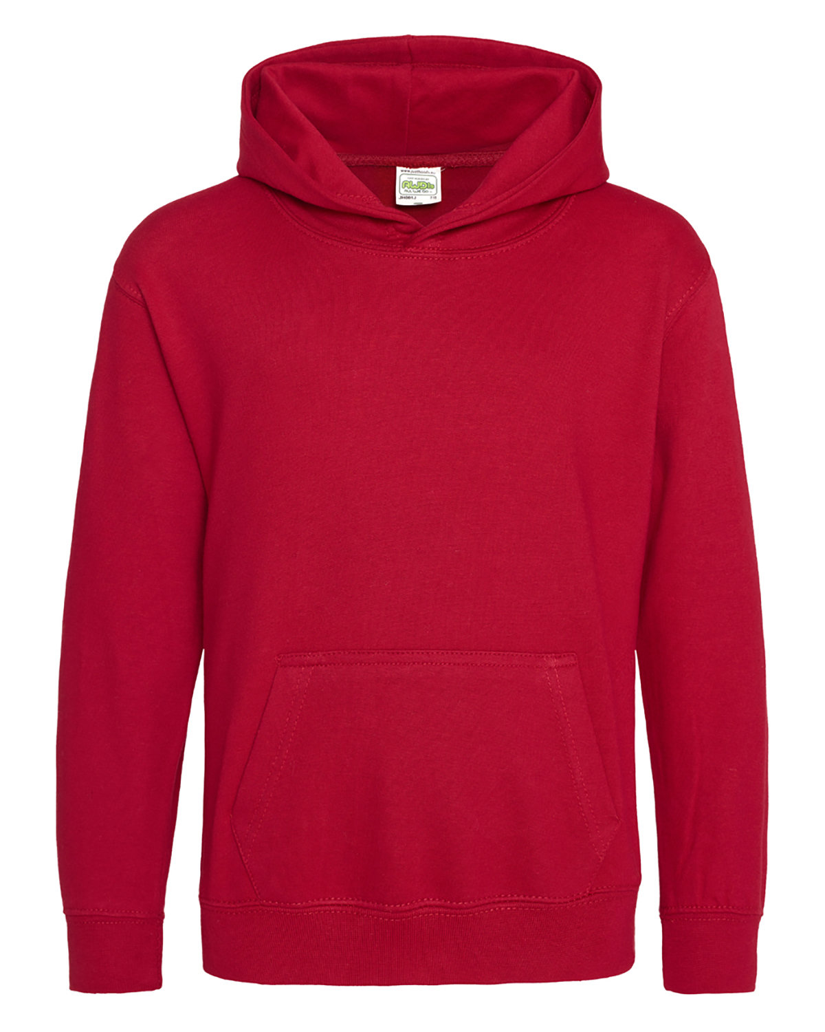 Just Hoods By AWDis Youth 80/20 Midweight College Hooded Sweatshirt FIRE RED