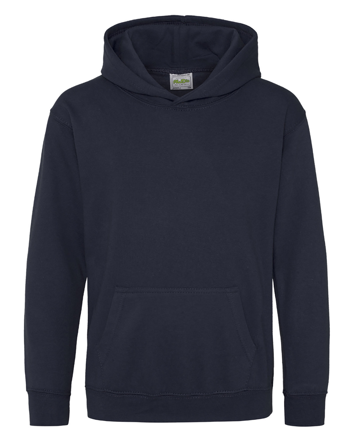 Just Hoods By AWDis Youth 80/20 Midweight College Hooded Sweatshirt OXFORD NAVY