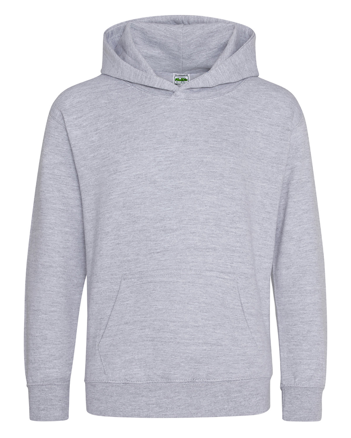 Just Hoods By AWDis Youth 80/20 Midweight College Hooded Sweatshirt HEATHER GREY