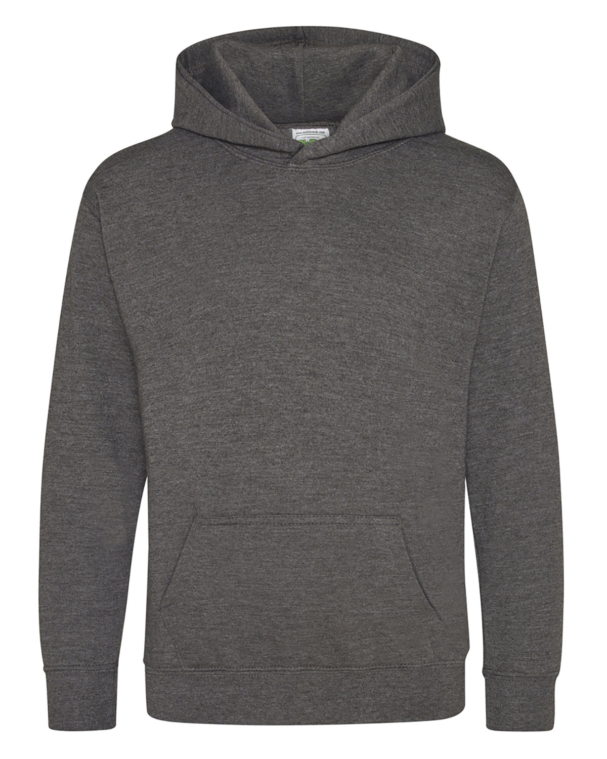 Just Hoods By AWDis Youth 80/20 Midweight College Hooded Sweatshirt CHARCOAL