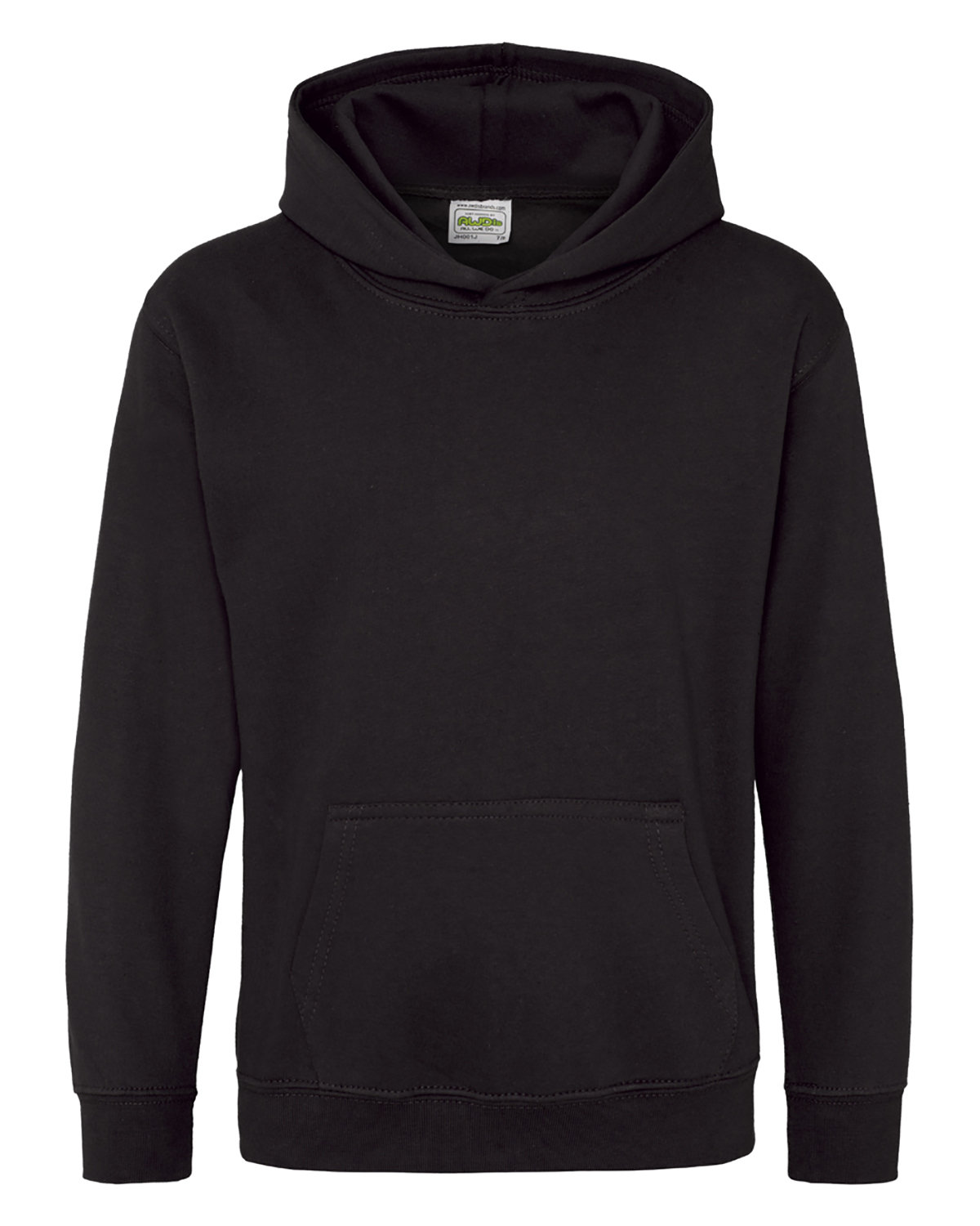 Just Hoods By AWDis Youth 80/20 Midweight College Hooded Sweatshirt JET BLACK