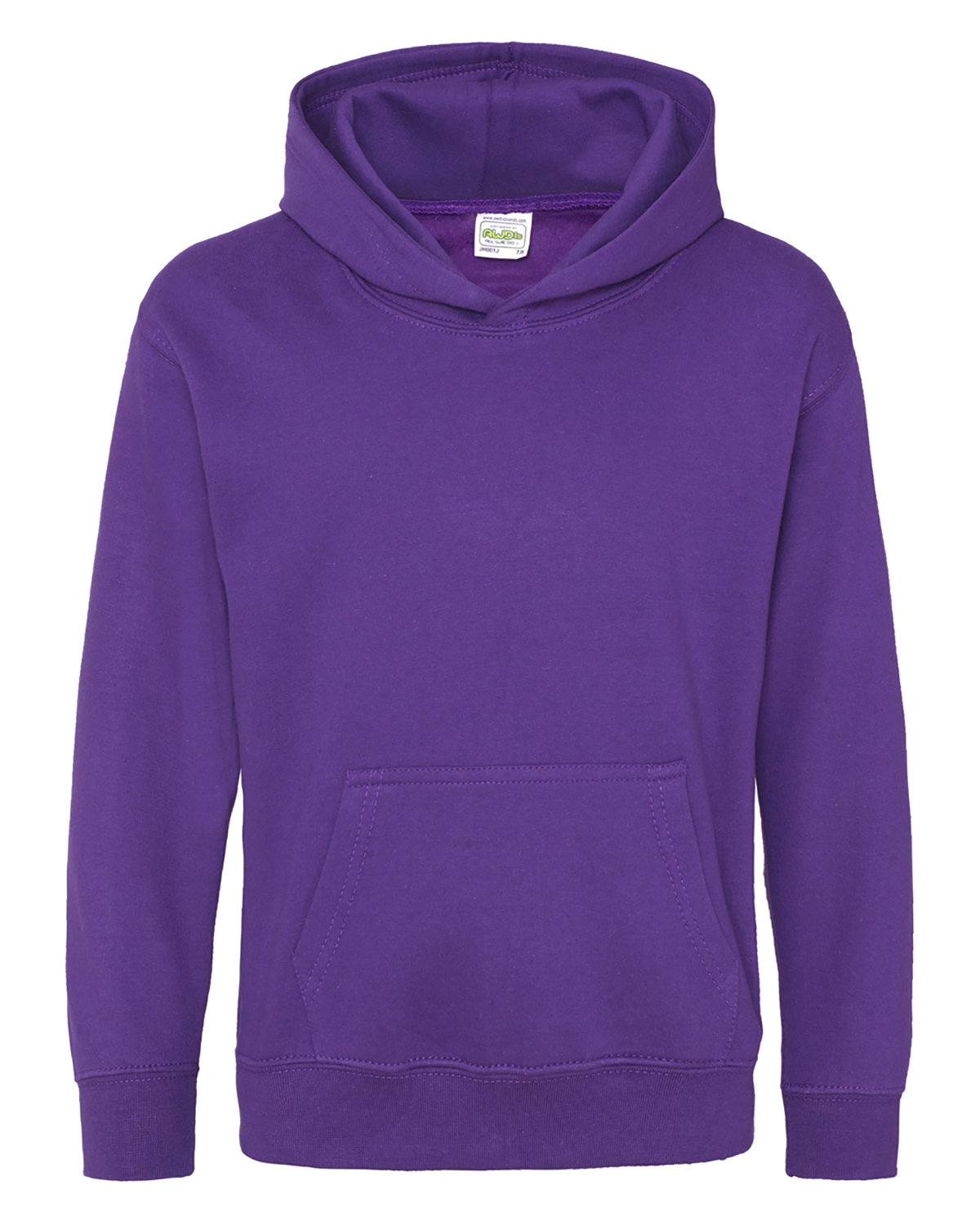 Just Hoods By AWDis Youth 80/20 Midweight College Hooded Sweatshirt PURPLE