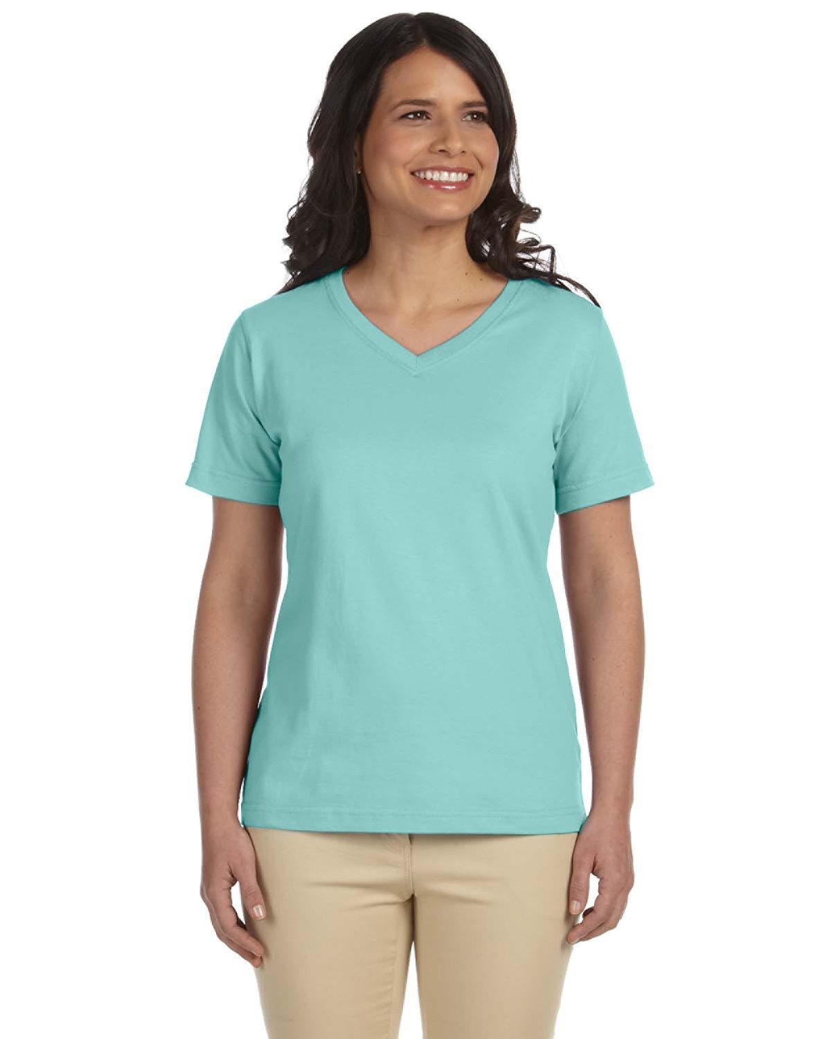 LAT Ladies' Premium Jersey V-Neck T-Shirt CHILL