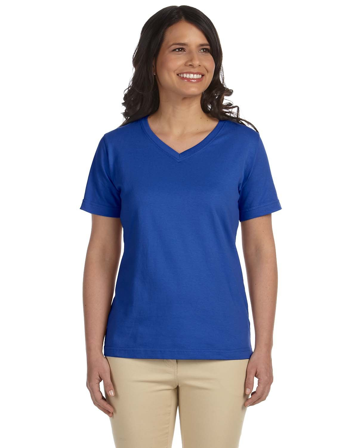 LAT Ladies' Premium Jersey V-Neck T-Shirt ROYAL