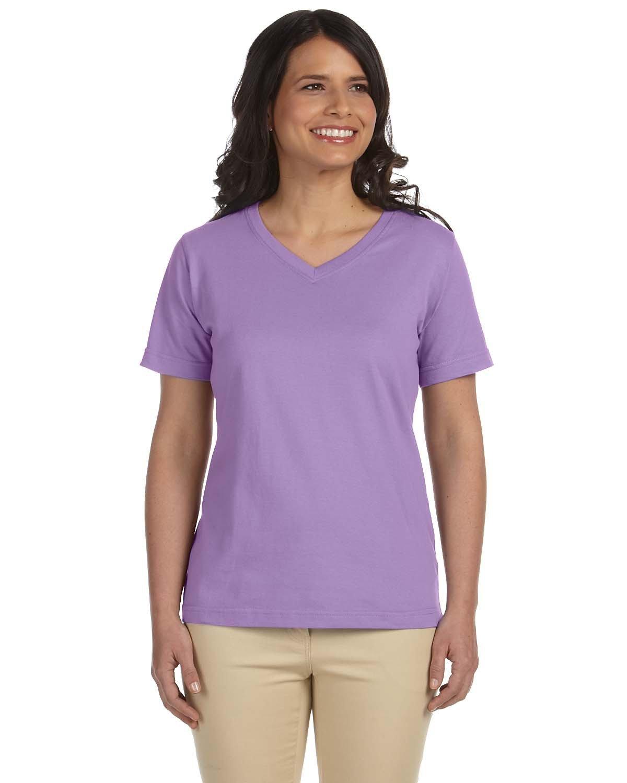 LAT Ladies' Premium Jersey V-Neck T-Shirt LAVENDER