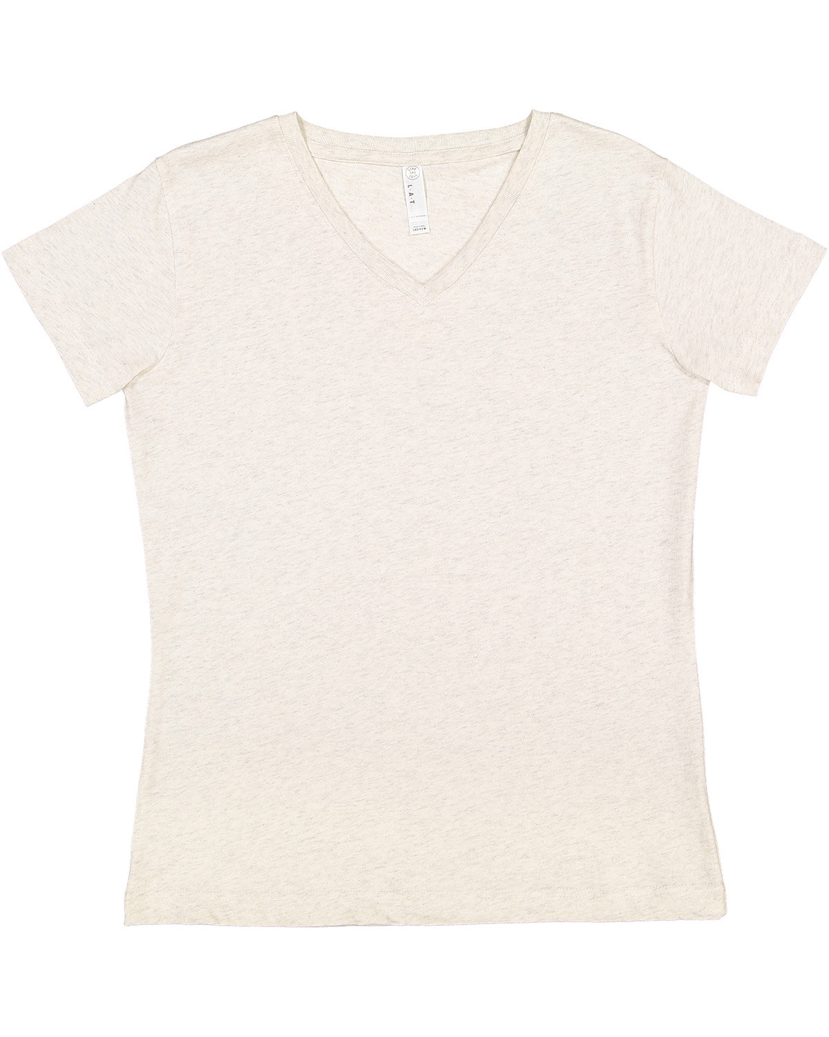 LAT Ladies' Premium Jersey V-Neck T-Shirt NATURAL HEATHER
