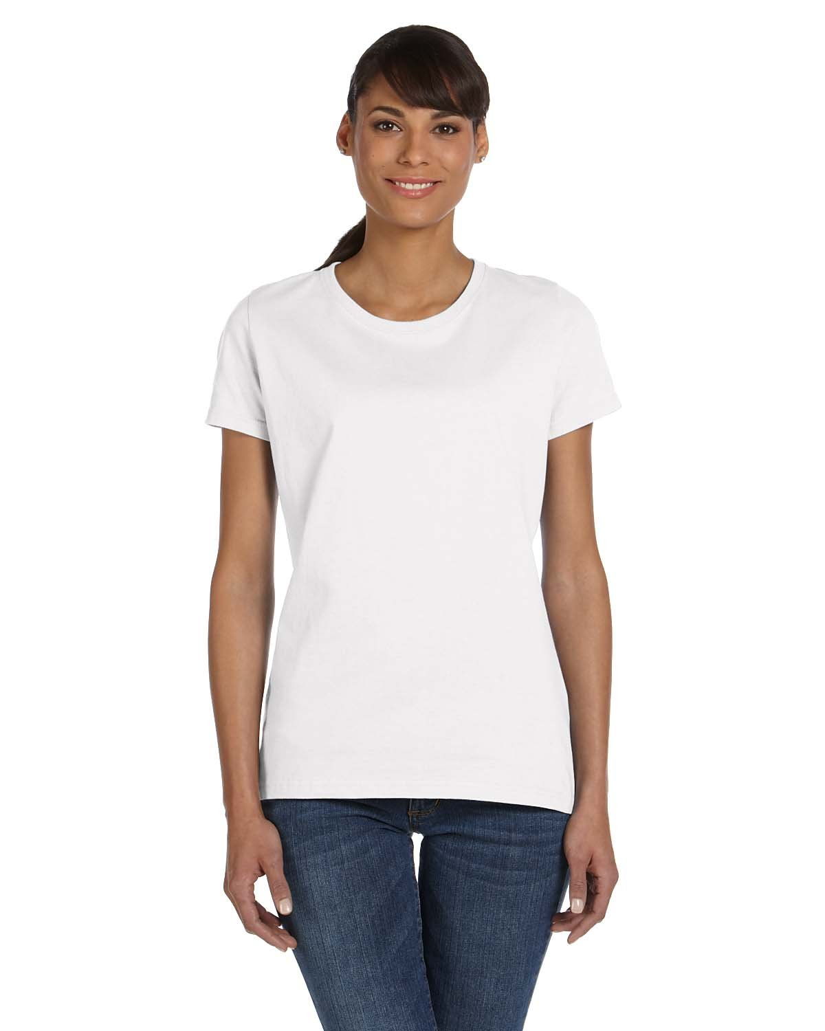 Fruit of the Loom Ladies' HD Cotton™ T-Shirt WHITE