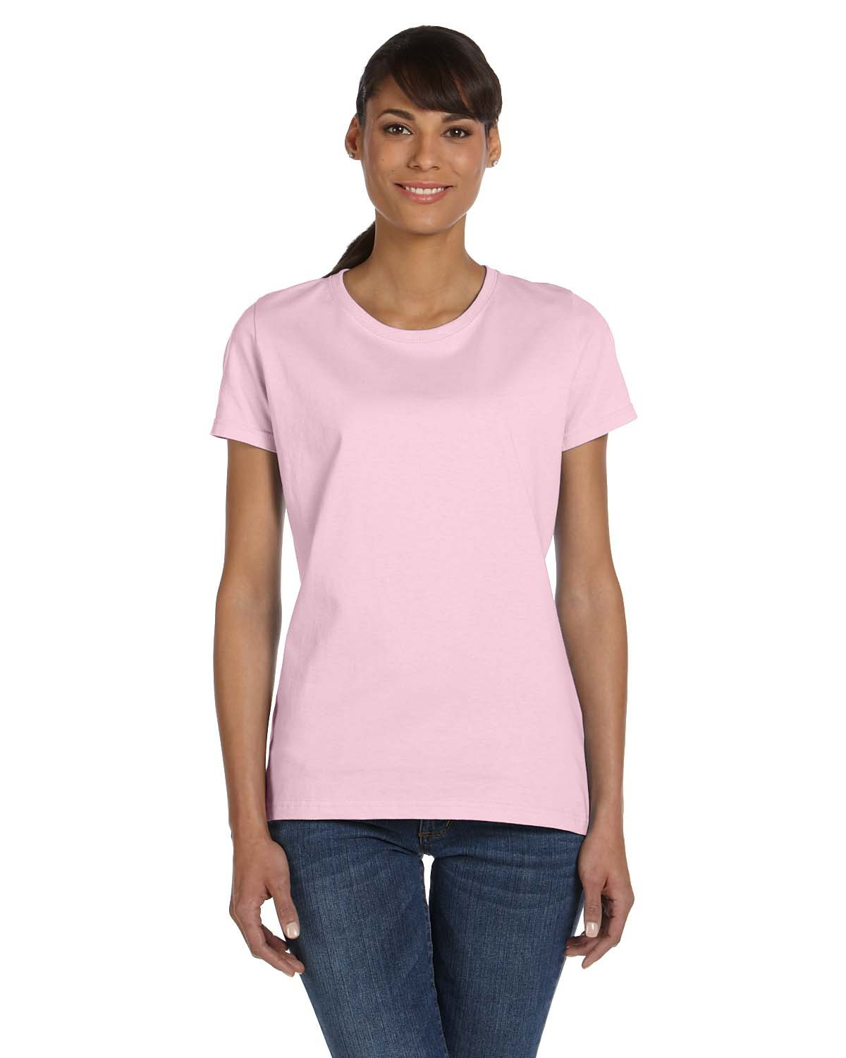 Fruit of the Loom Ladies' HD Cotton™ T-Shirt CLASSIC PINK