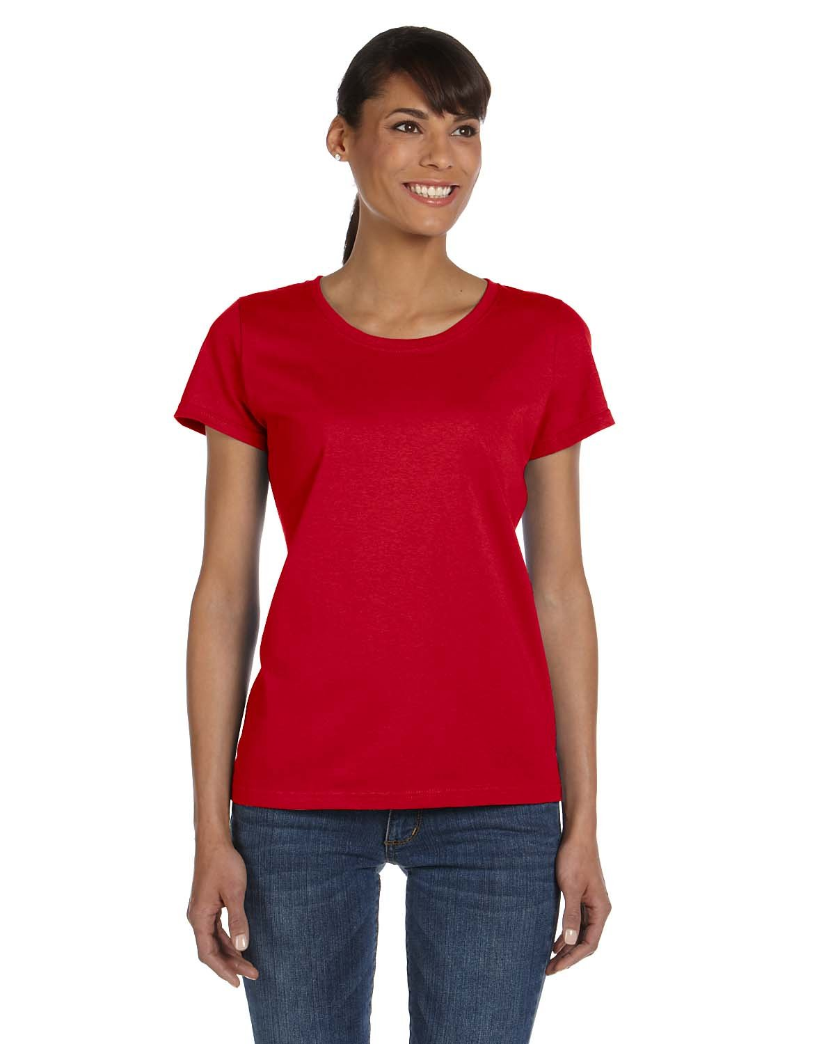 Fruit of the Loom Ladies' HD Cotton™ T-Shirt TRUE RED
