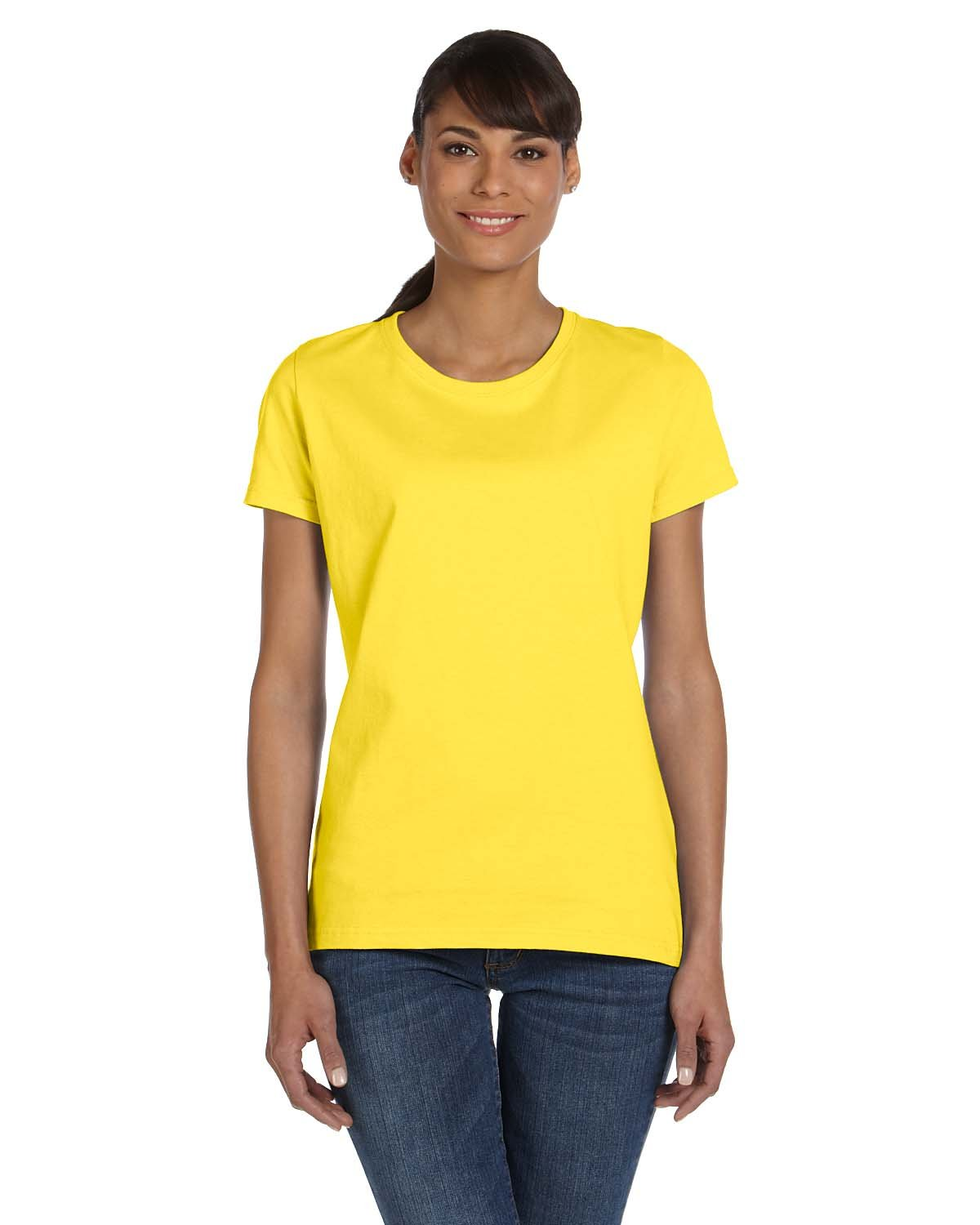 Fruit of the Loom Ladies' HD Cotton™ T-Shirt YELLOW