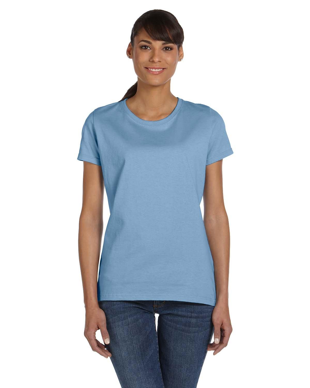 Fruit of the Loom Ladies' HD Cotton™ T-Shirt LIGHT BLUE