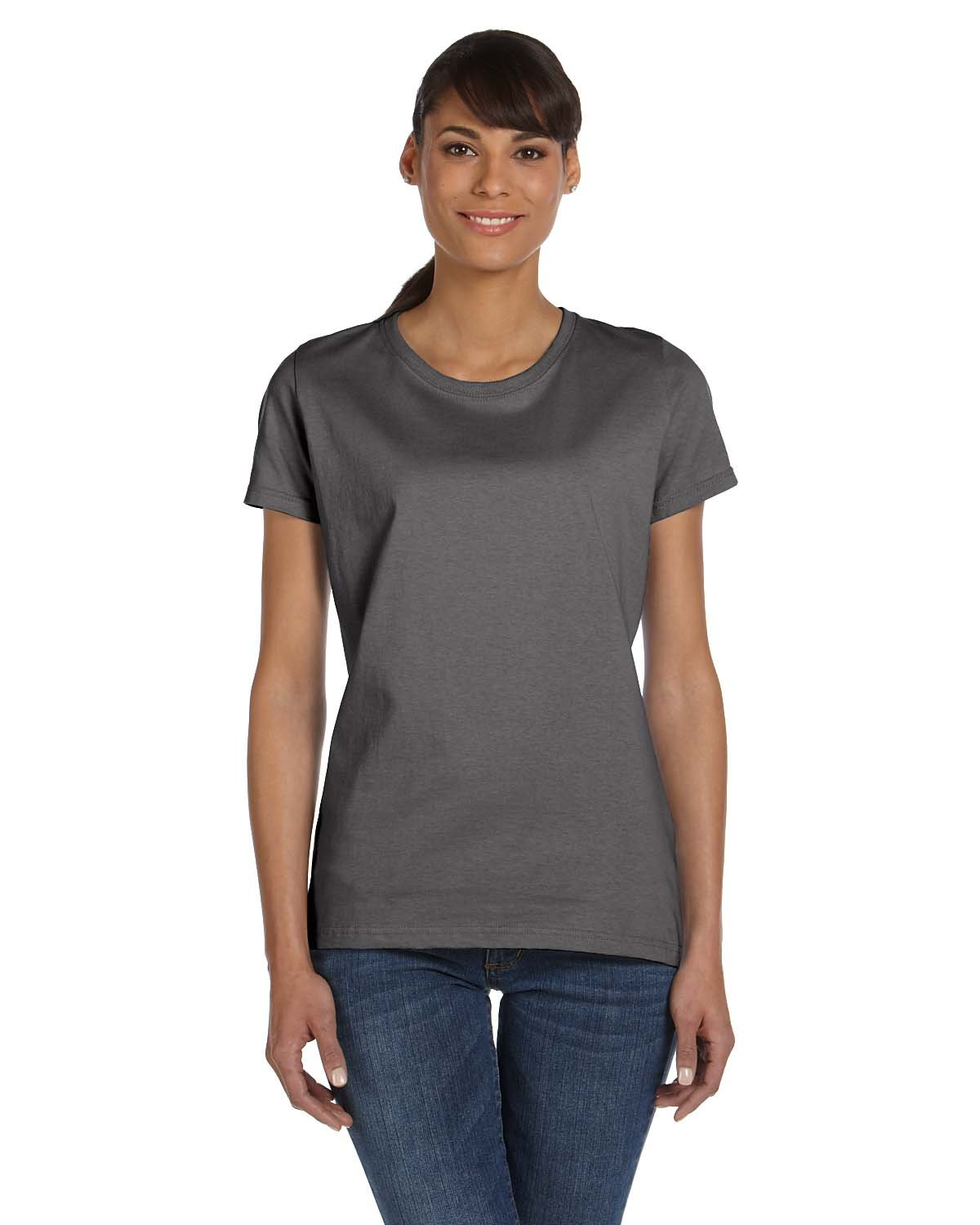Fruit of the Loom Ladies' HD Cotton™ T-Shirt CHARCOAL GREY