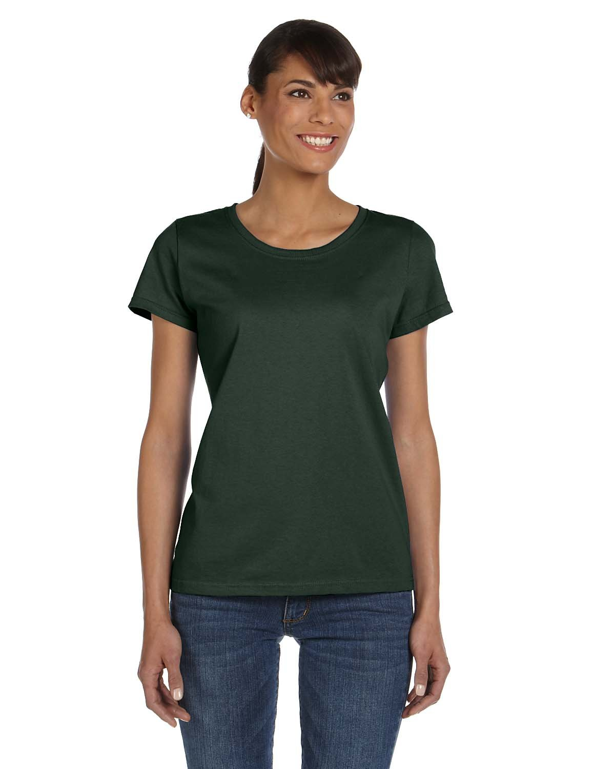 Fruit of the Loom Ladies' HD Cotton™ T-Shirt FOREST GREEN
