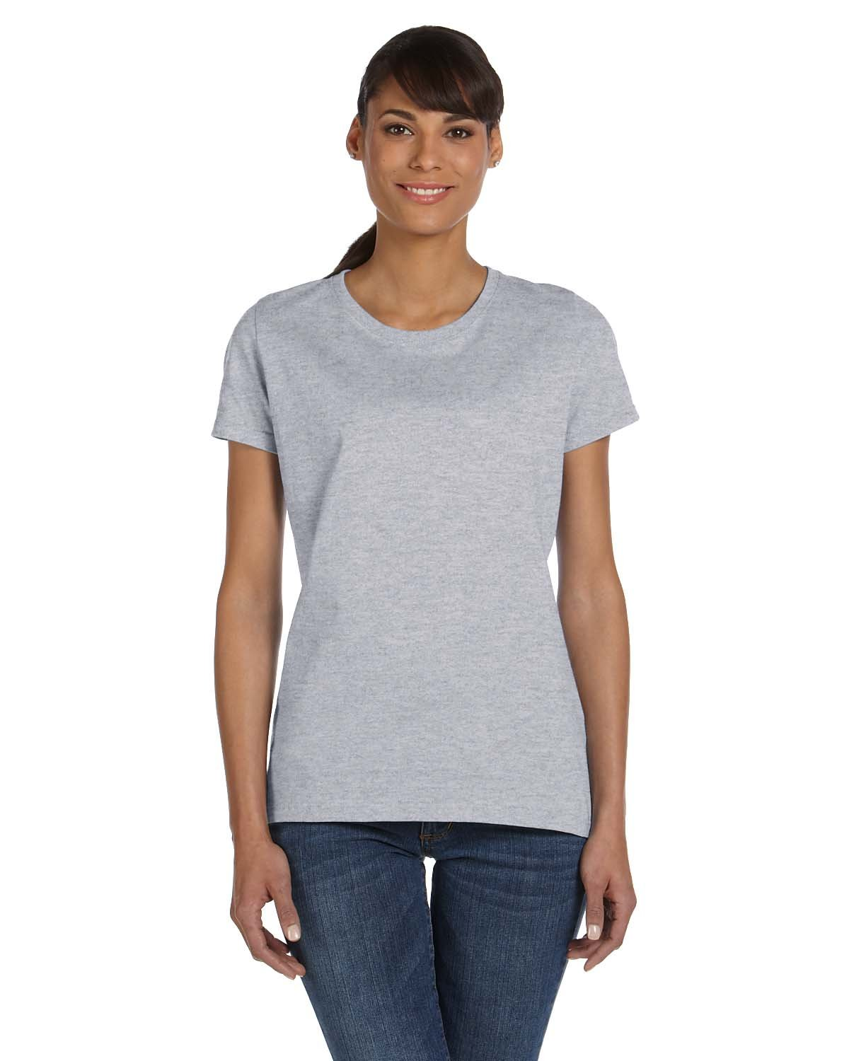 Fruit of the Loom Ladies' HD Cotton™ T-Shirt ATHLETIC HEATHER