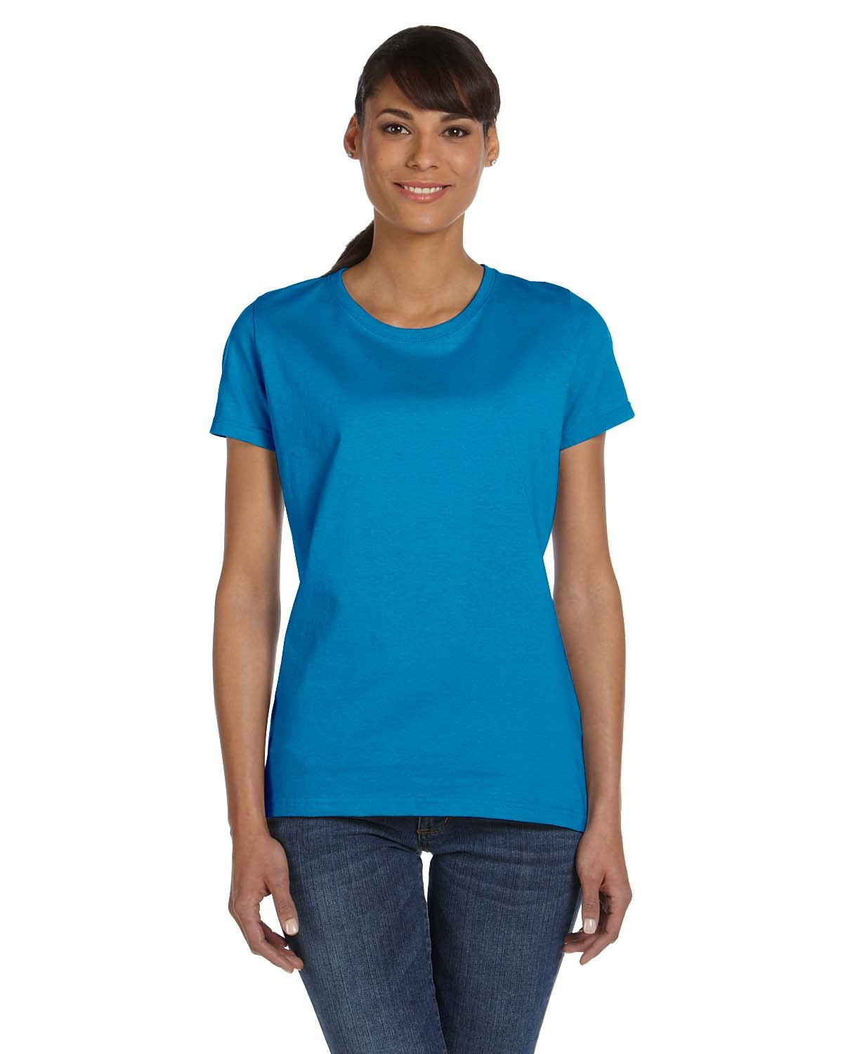 Fruit of the Loom Ladies' HD Cotton™ T-Shirt PACIFIC BLUE