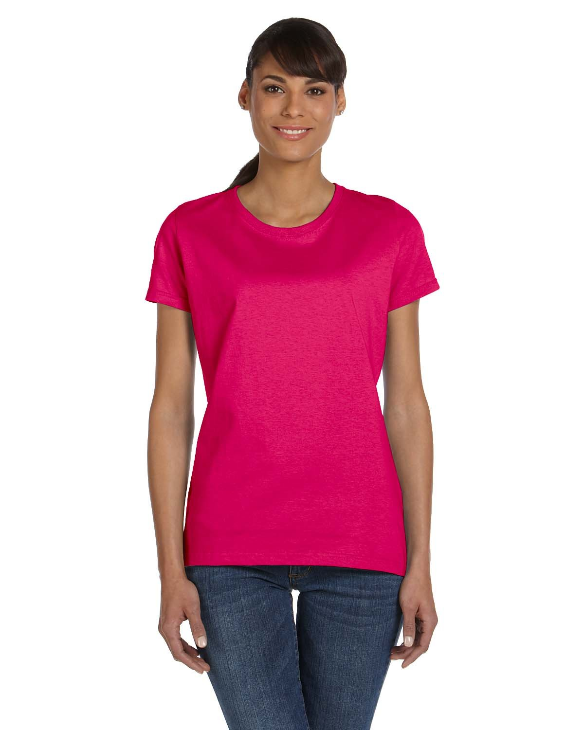 Fruit of the Loom Ladies' HD Cotton™ T-Shirt CYBER PINK