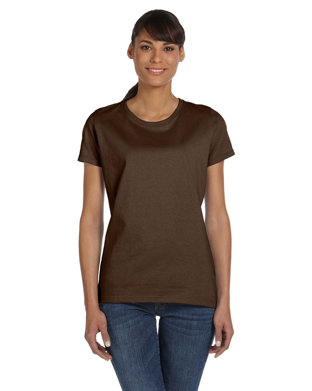 Fruit of the Loom Ladies' HD Cotton™ T-Shirt CHOCOLATE