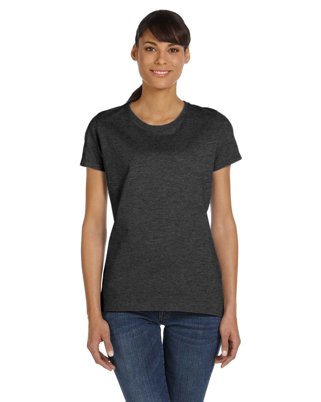 Fruit of the Loom Ladies' HD Cotton™ T-Shirt BLACK HEATHER