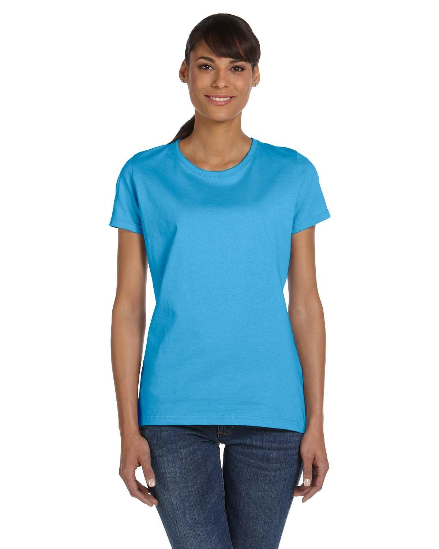 Fruit of the Loom Ladies' HD Cotton™ T-Shirt AQUATIC BLUE