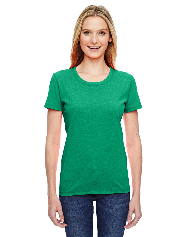 Fruit of the Loom Ladies' HD Cotton™ T-Shirt RETRO HTR GREEN