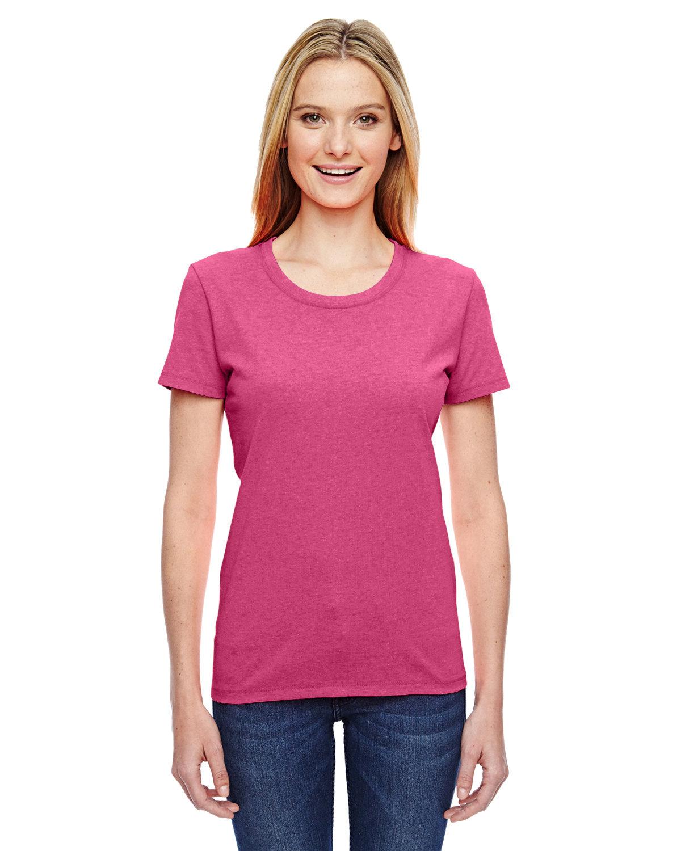 Fruit of the Loom Ladies' HD Cotton™ T-Shirt RETRO HTR PINK