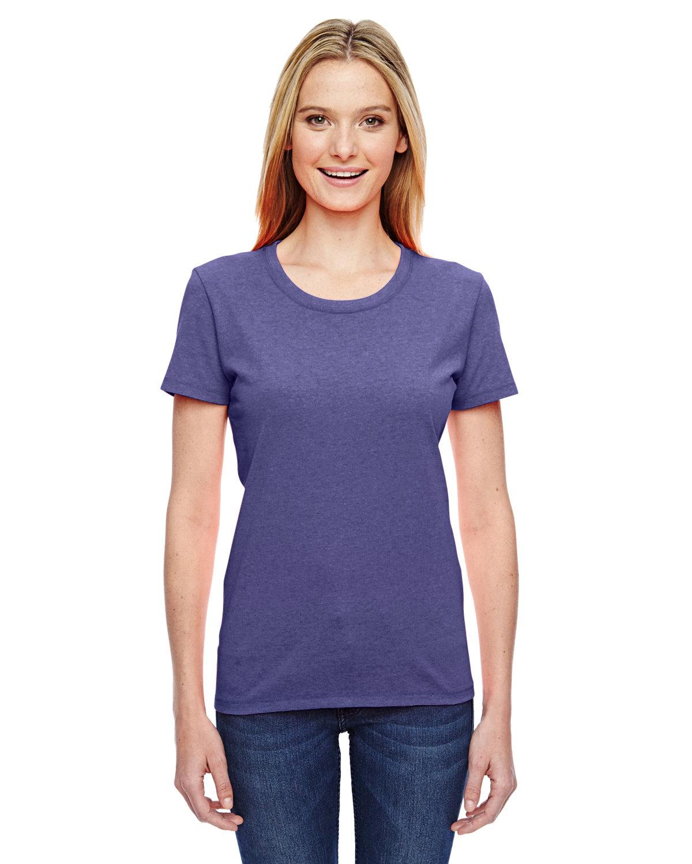 Fruit of the Loom Ladies' HD Cotton™ T-Shirt RETRO HTR PURPLE